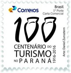 Correios lançam selo e carimbo dos 100 anos do Turismo no Paraná